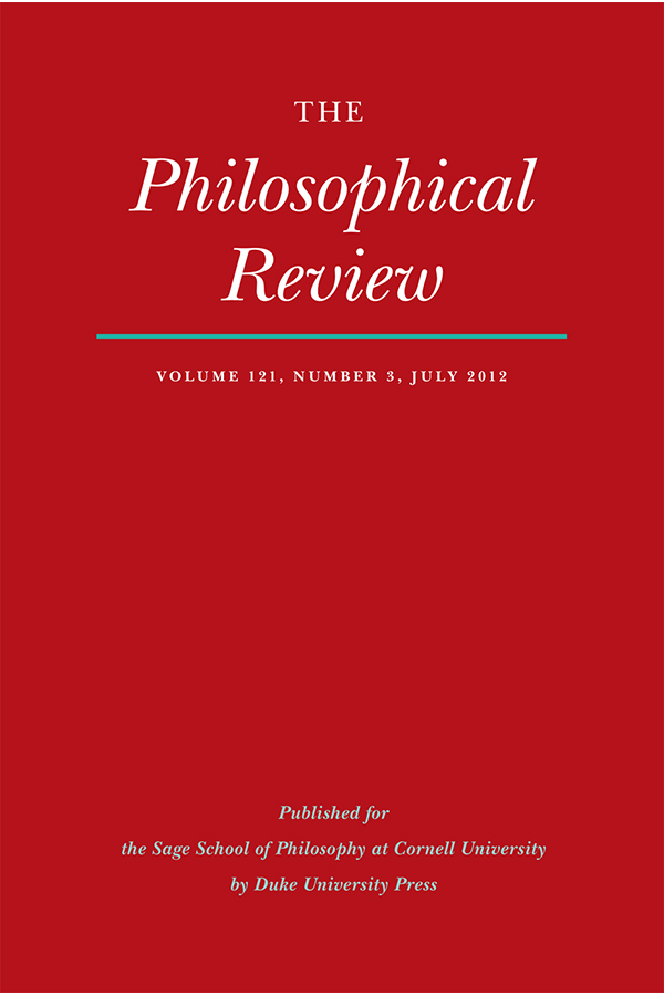 The Philosophical Review 121:3