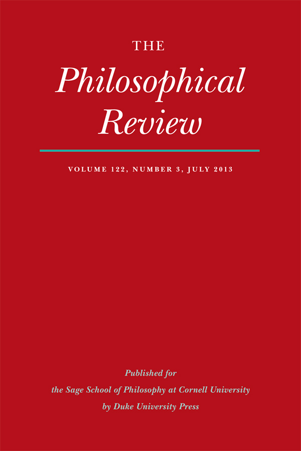 The Philosophical Review 122:3