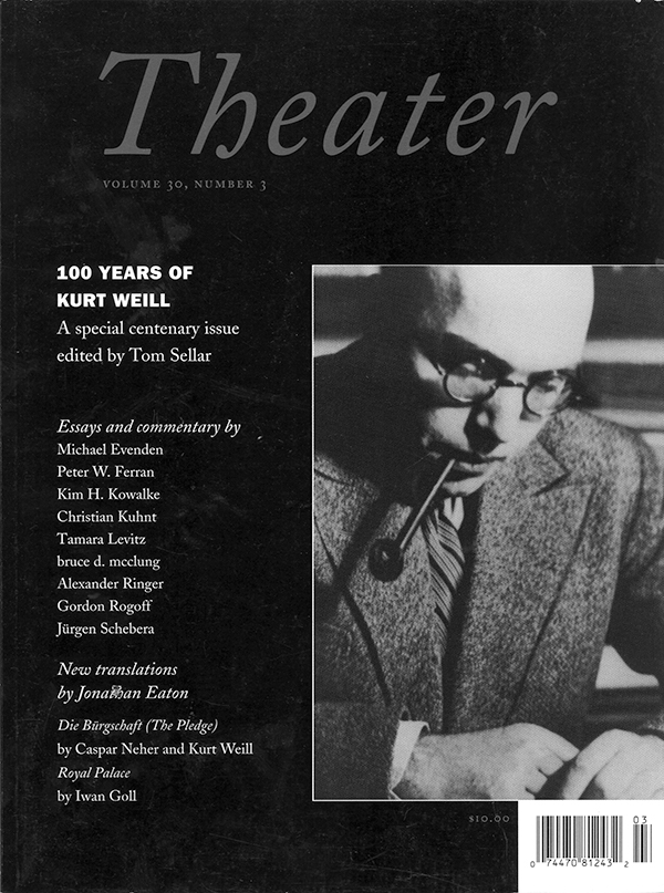 100 Years of Kurt Weill303