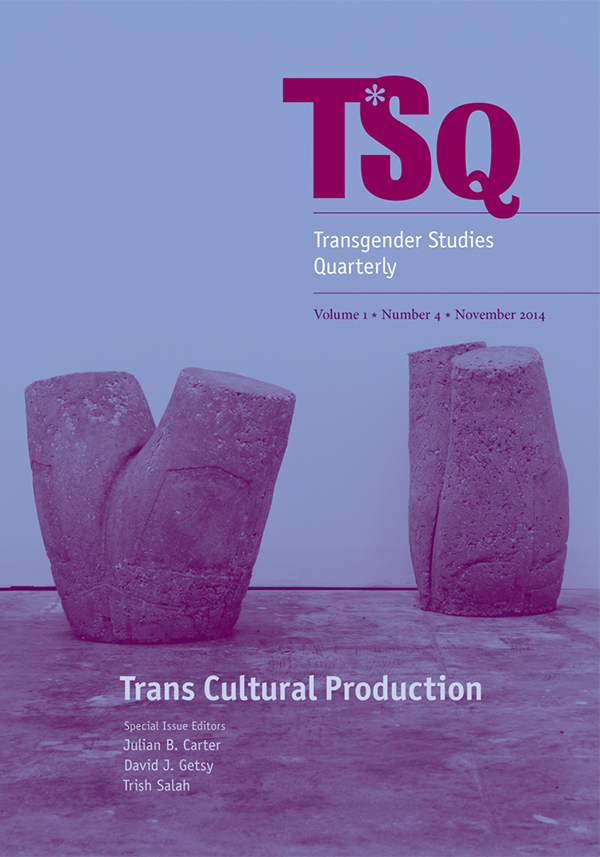 Trans∗ Cultural Production14